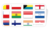 Country Flag Button Icons