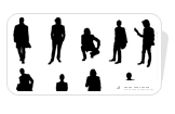 Silhouettes Business People Icons