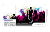 Power Point Business Presentation Splatter