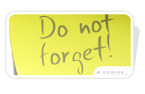 Post it Do not forget