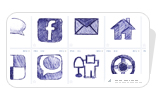 Free Hand drawn Social Media Icons