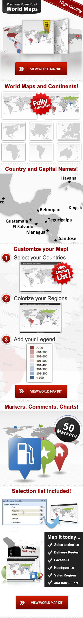 Download free editable powerpoint worldmaps maps map templates for powerpoint world map kit classic gumiabroncs Images